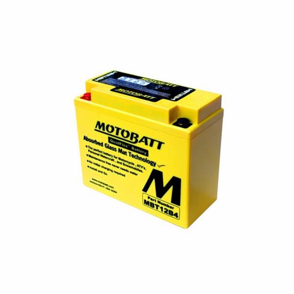Baterie Motobatt MBT12B4 11Ah, 12V, 2 vývody