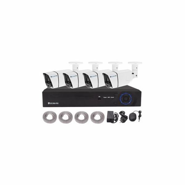 Kamerový set Securia Pro NVR4CHV2-W NVR + POE napájení, 4 HD kamery - bílá