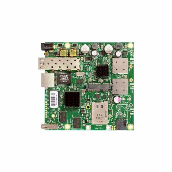 RouterBoard Mikrotik RB922UAGS-5HPacD 802.11ac 2x2 two chain, RouterOS L4, miniPCIe, USB, SFP, SIM,
