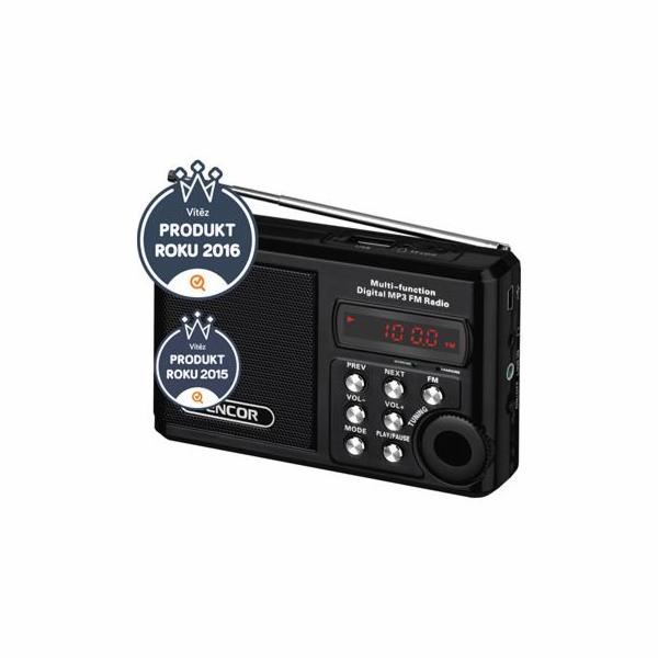 Rádio Sencor SRD 215 B S USB/MP3 černé