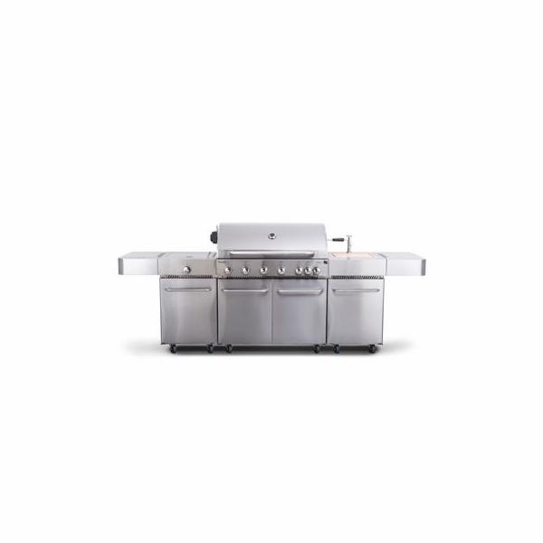 Plynový gril G21 Nevada BBQ kuchyně Premium Line, 7 hořáků + zdarma redukční ventil