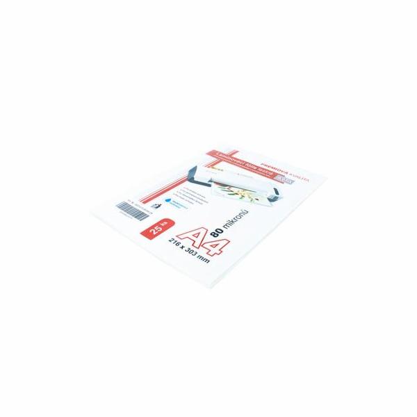 Laminovací fólie ARTA / OEM A4, 80mic lesklé, 25ks
