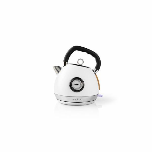 Rychlovarná konvice Nedis KAWK530EWT Soft-Touch, bílá