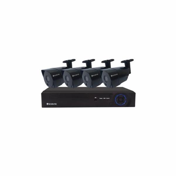 Kamerový set Securia Pro NVR4CHV5-B IP, 5Mpx, 4 kamery, PoE NVR, černá