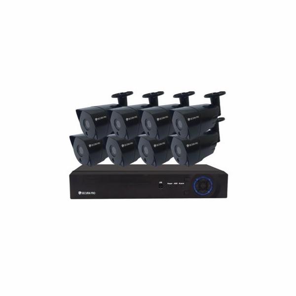 Kamerový set Securia Pro NVR8CHV5-B IP, 5Mpx, 8 kamery, PoE NVR, černá