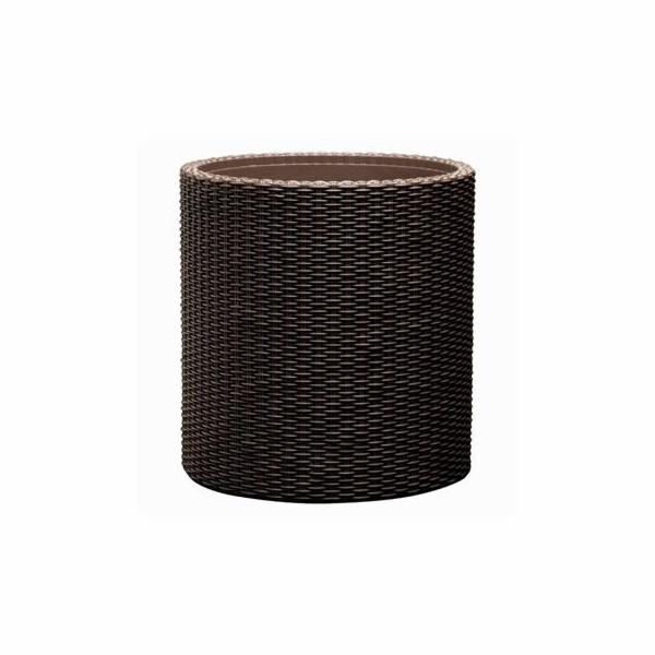 Květináč Keter Cylinder L Brown