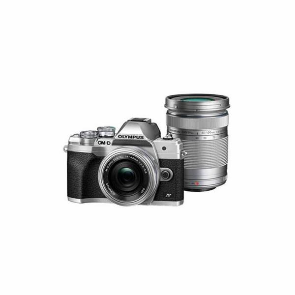 Digitální fotoaparát Olympus E-M10 Mark IV Pancake DZ kit silver/silver/black