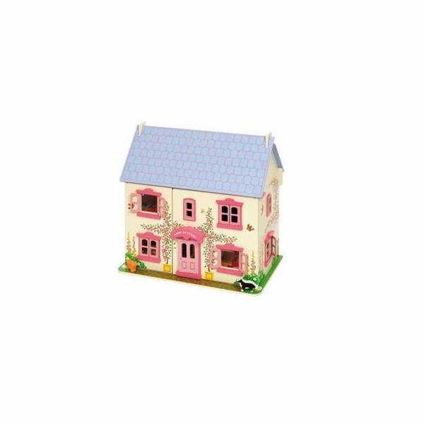 Hračka Bigjigs Toys Růžový domek pro panenky