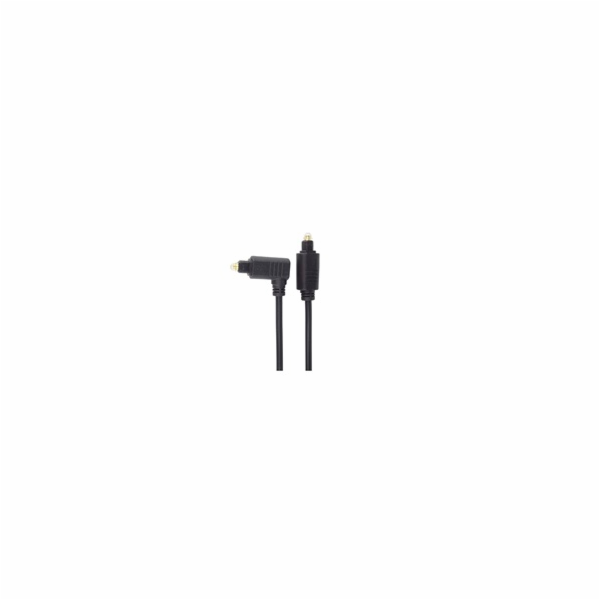Optický kabel Toslink - Toslink 90°, OD:4mm, 1m