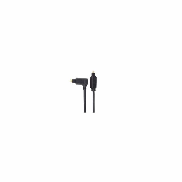 Optický kabel Toslink - Toslink 90°, OD:4mm, 2m