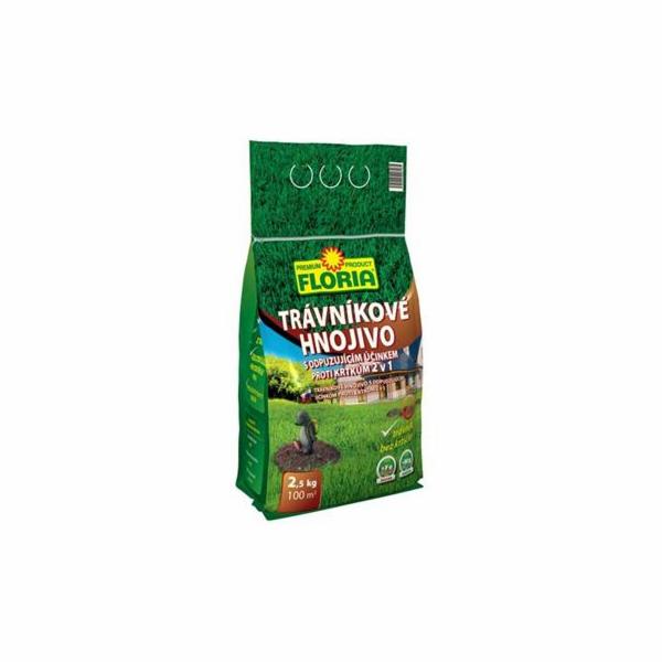 Hnojivo Agro Floria trávníkové s odpuzujícím účinkem proti krtkům 2.5 kg