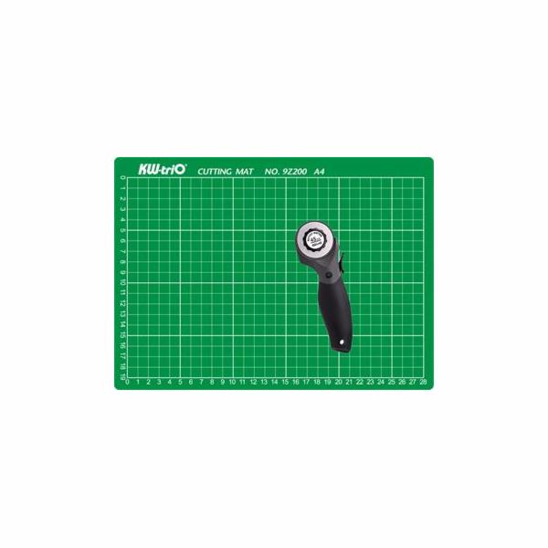 Sada KW-triO řezací podložka A4 + řezací kolečko - výhodná cena