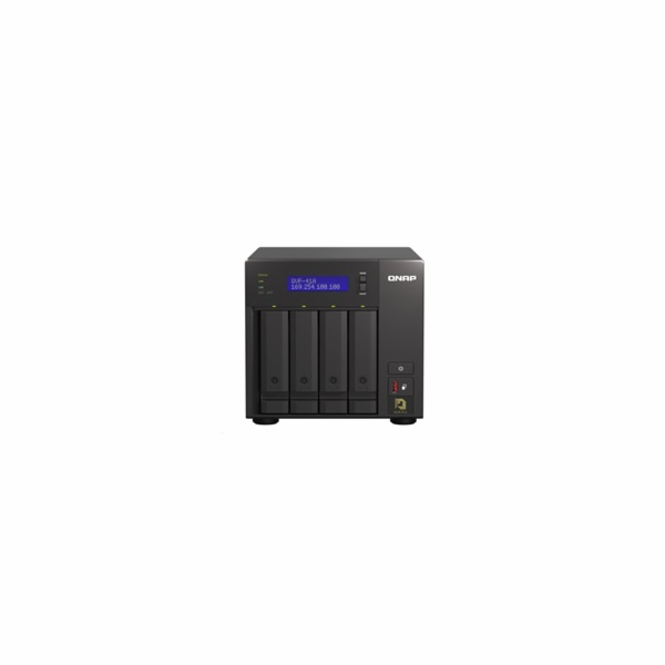 QNAP QVP-41A (2C/G5400T/3,1GHz/8GBRAM/4xSATA/2xM.2/1xUSB3.0/4xUSB3.1/1xHDMI/2xGbE/2xPCle/kamery: 8 (max24)