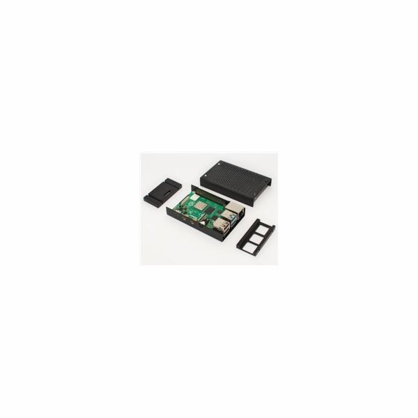 Kryt Raspberry case Alu pro Raspberry Pi 4 B, černá (Joy-it)
