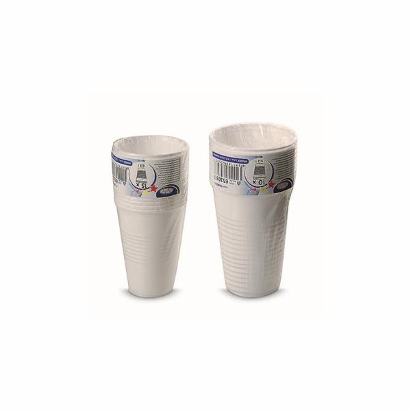 Kelímek Cleanex Trade plastový bílý 0,5l, 10 ks