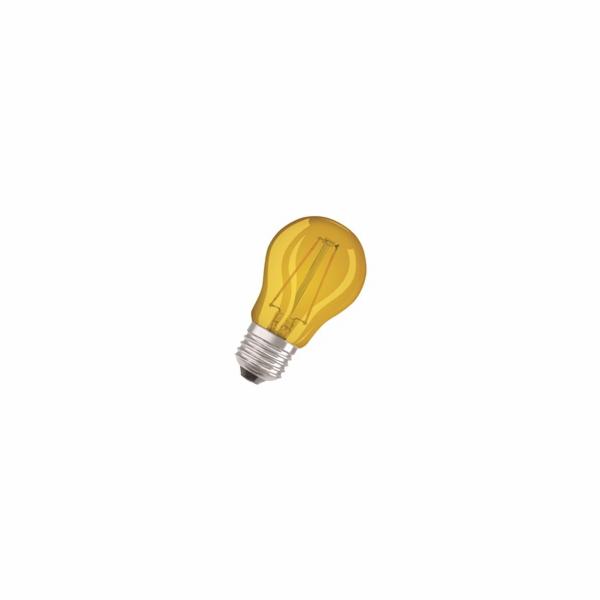 OSRAM LED Filament STAR ClasP 230V 1,6W 827 E27 noDIM Sklo čiré YELLOW lm 2700K 15000h (blistr 1ks)