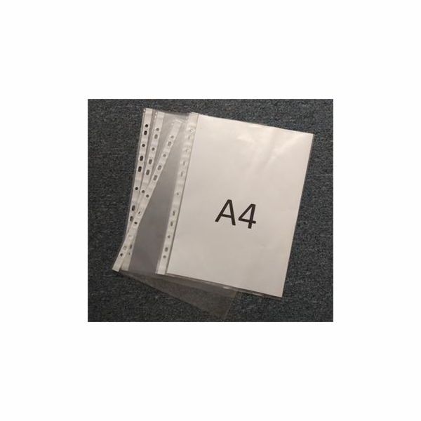 Obal fóliový Euroobal A4/U, závěsný, krupičkový povrch, 30mic, 100ks