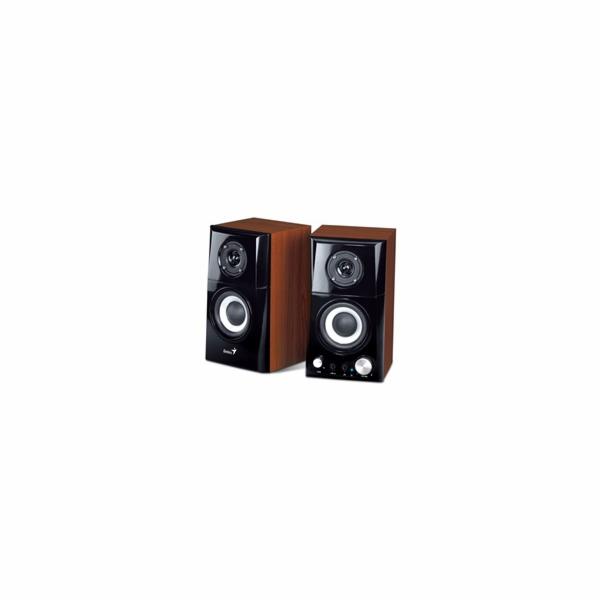 Genius repro SP-HF500A v2, 2.0, 16W, 3,5mm jack, dřevěné, hnědo-černé