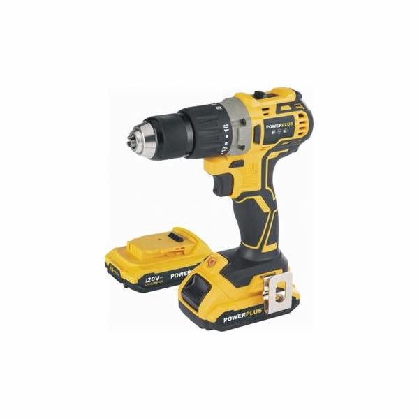 Aku vrtačka Powerplus POWX00510 20V s příklepem, bezuhlíková