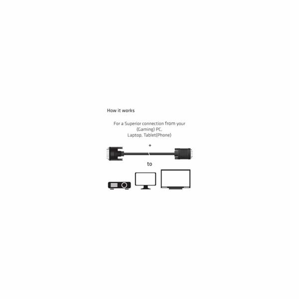 Club3D kabel DVI-A na VGA, 3m, 28 AWG