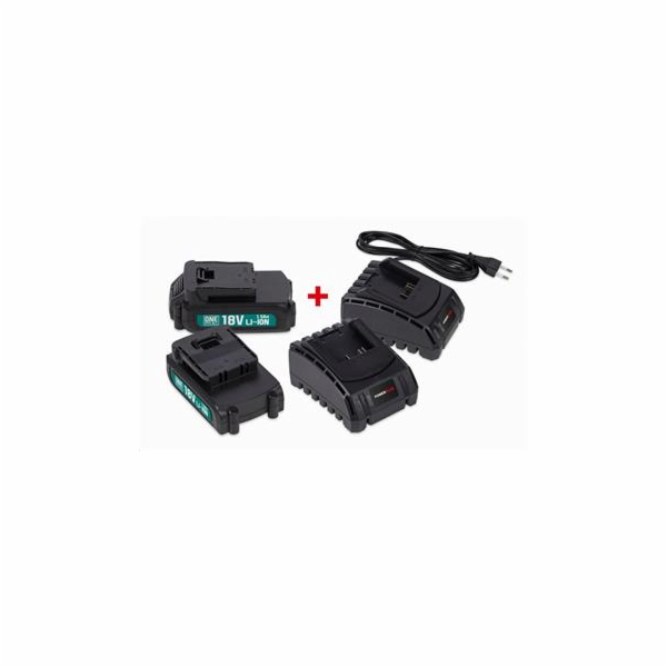 Sada Powerplus POWEB9090 2x baterie 18 V Li-Ion 1.5 Ah plus 2x nabíječka