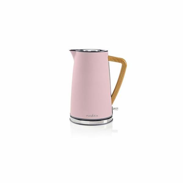 Rychlovarná konvice Nedis KAWK510EPK Soft-Touch, růžová