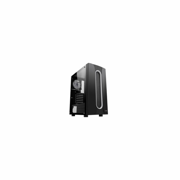 1stCOOL skříň SAURON, Middle Tower, ARGB, AU, USB 3.0, bez zdroje, černá