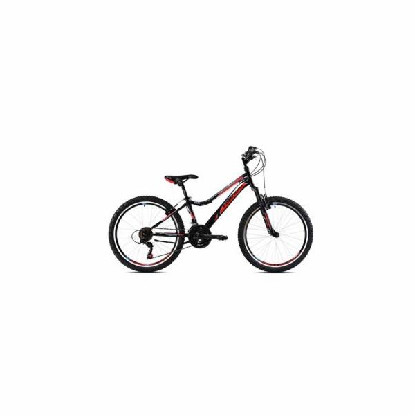 """Horské jízdní kolo Capriolo DIAVOLO DX 400 FS 24""""/18HT black red 13"""" (2021)"""