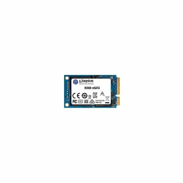 Kingston SSD 256GB KC600 SATA3 mSATA (R:550, W:520MB/s)