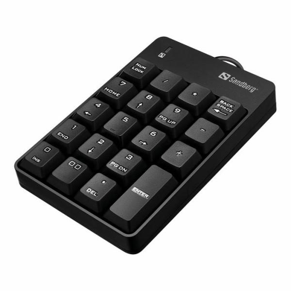 Sandberg numerická klávesnice, USB, černá