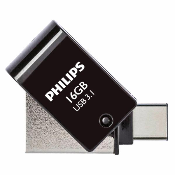 Philips 2 in 1 cerna 16GB OTG USB C + USB 3.1