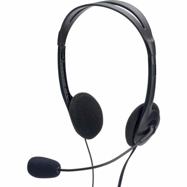 ednet Multimedia Stereo sluchatka s Mikrofon 1,8m