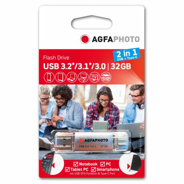 AgfaPhoto USB 3.0 2v1 32GB USB-Typ C