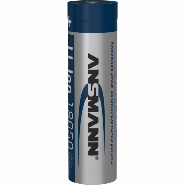 1 Ansmann Li-Ion 18650 2600mAh 3,6V Micro-USB zdírka 1307-0002
