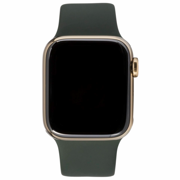 Apple Watch Series 6 GPS + Cell 44mm Gold Steel Green Sport Band