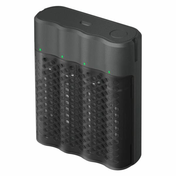 GP ReCyko Pro Schnellladegerät 4-Port USB 4xAA NiMh 2100mAh