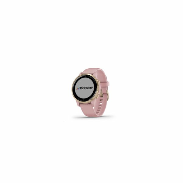 Garmin monitorovací náramek a hodinky vívoactive4S Dust Rose/Light Gold