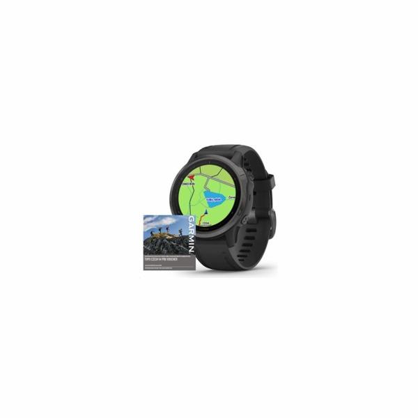 Garmin GPS sportovní hodinky fenix6S PRO Sapphire, Gray/Black Band (MAP/Music)
