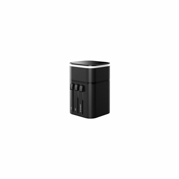 Baseus univerzální cestovní adaptér 3v1 PPS Quick Charger Edition 18W (USB-C/USB), černá