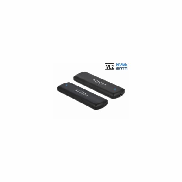 Externes USB Type-C Combo Gehäuse für M.2 NVMe PCIe oder SATA SSD, Laufwerksgehäuse
