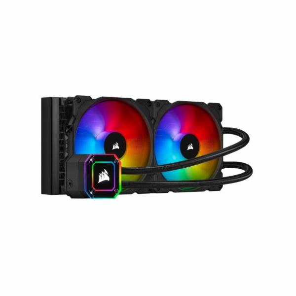 CORSAIR vodní chlazení iCUE H100i ELITE CAPELLIX, 240mm Radiator, Dual 120mm ML RGB Fans, Software Control