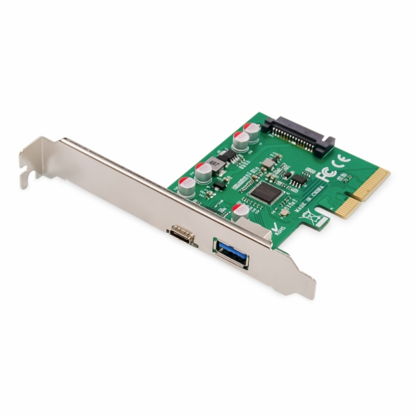 Digitus Karta PCIe, USB Type-C + USB Type-A až 10 GB / s