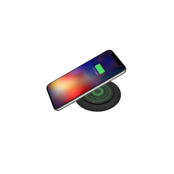 Podložka FIXED Pad pro rychlé bezdrátové nabíjení telefonu, 10W, černá