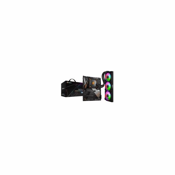GIGABYTE MB Sc LGA1200 Z490 AORUS MASTER WATERFORCE, Intel Z490, 4xDDR4, 1xHDMI, WI-FI