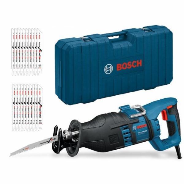Pila ocaska Bosch GSA 1300 PCE + 20 pil. listů v kufru (0615990EC6)