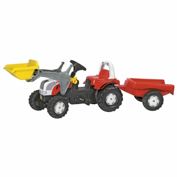 Šlapací traktor Rolly Toys Steyr CVT 61900 + přívěs