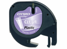 Dymo Letratag Plastic tape transparent 12mm x 4m      16951