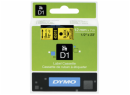 Dymo D1 12mm Black/Yellow labels 45018