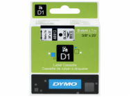 Dymo D1 9mm Black/White labels 40913