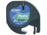 Dymo Letratag Plastic tape green 12mm x 4m            91224
